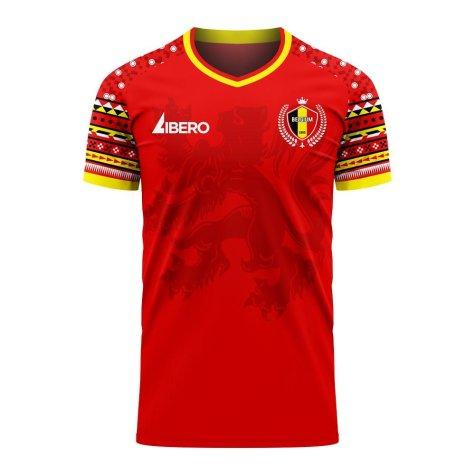 Belgium 2020-2021 Home Concept Football Kit (Libero)