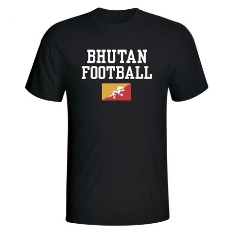 Bhutan Football T-Shirt - Black