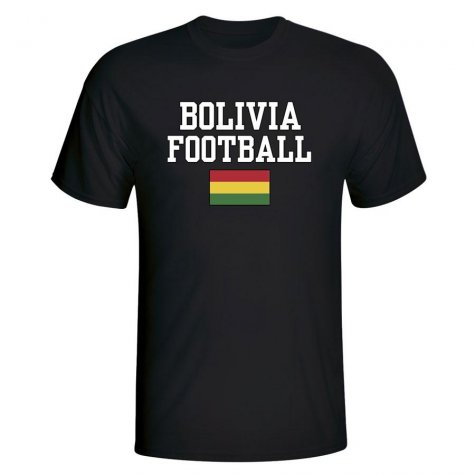 Bolivia Football T-Shirt - Black