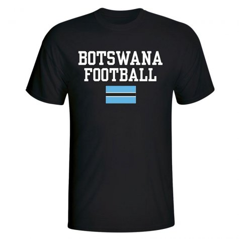 Botswana Football T-Shirt - Black