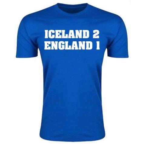 Iceland 2 England 1 T-Shirt (Blue)