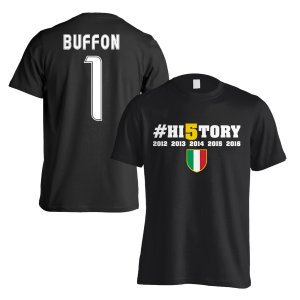 Juventus History Winners T-Shirt (Buffon 1) Black - Kids