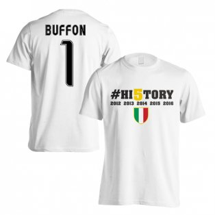 Juventus History Winners T-Shirt (Buffon 1) White - Kids