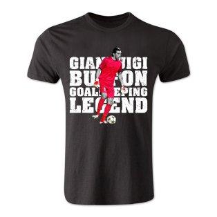Gianluigi Buffon Goalkeeping Legend T-Shirt (Black) - Kids
