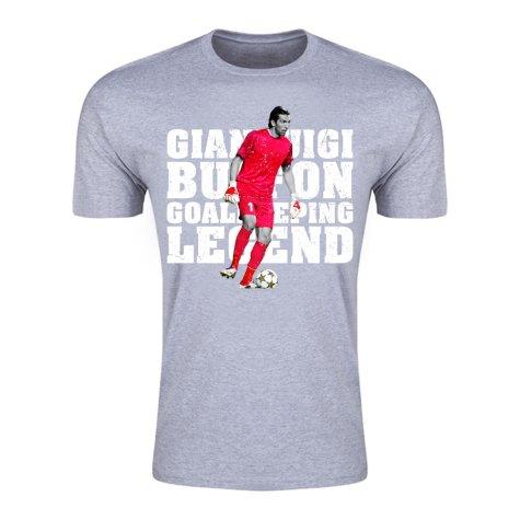 Gianluigi Buffon Goalkeeping Legend T-Shirt (Grey) - Kids