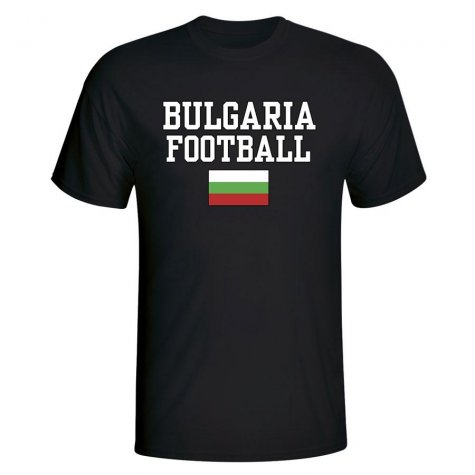 Bulgaria Football T-Shirt - Black