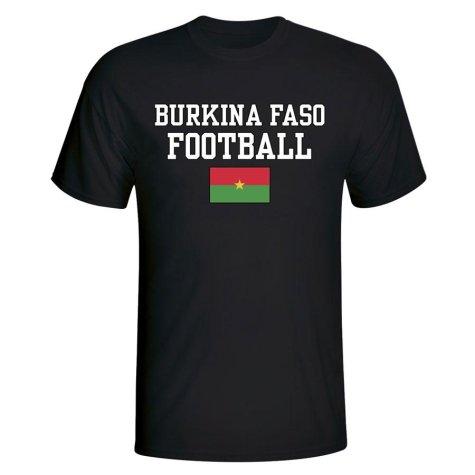 Burkina Faso Football T-Shirt - Black