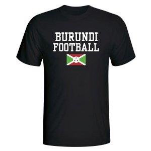Burundi Football T-Shirt - Black