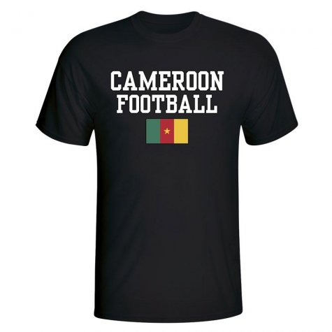 Cameroon Football T-Shirt - Black
