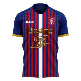 Caen 2020-2021 Home Concept Football Kit (Libero)