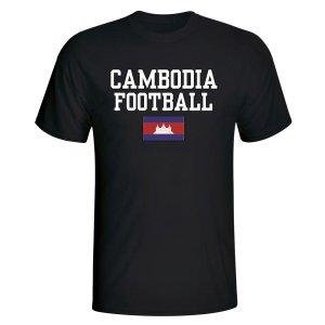 Cambodia Football T-Shirt - Black