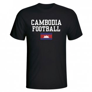 Cambodia Football T-Shirt - Black