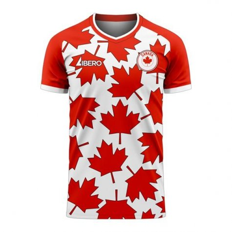 Canada 2020-2021 Home Concept Football Kit (Libero) - Little Boys