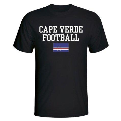 Cape Verde Football T-Shirt - Black
