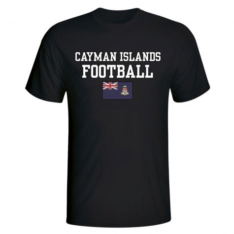 Cayman Islands Football T-Shirt - Black