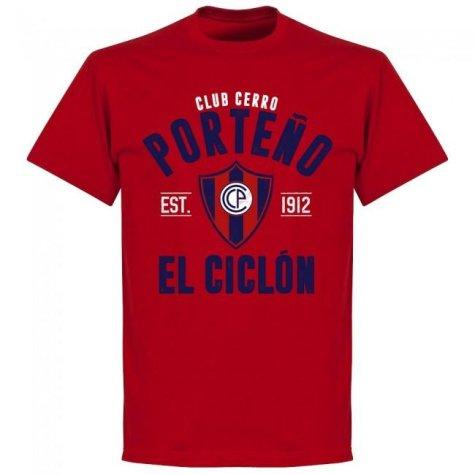 Cerro Porteno Established T-Shirt - Red