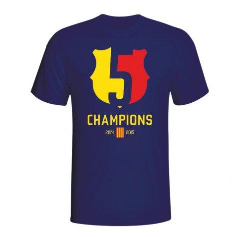 Barcelona 2015 Champions T-Shirt (Navy)