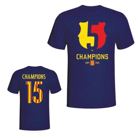 Barcelona 2015 Champions Tee (Navy)