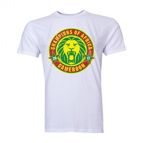 Cameroon African Nations Winners T-Shirt (White)