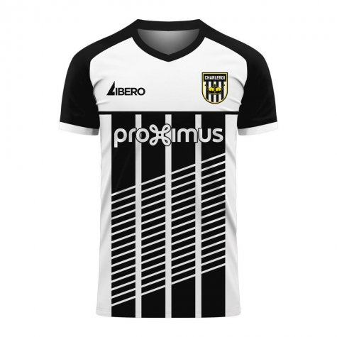 Charleroi 2020-2021 Home Concept Football Kit (Libero) - Little Boys