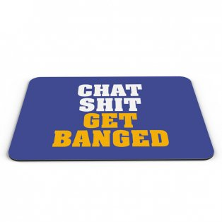 Leicester City Chat Get Banged Mouse Mat (Blue)