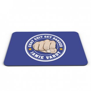 Leicester City Jamie Vardy Banged Logo Mouse Mat (Blue)