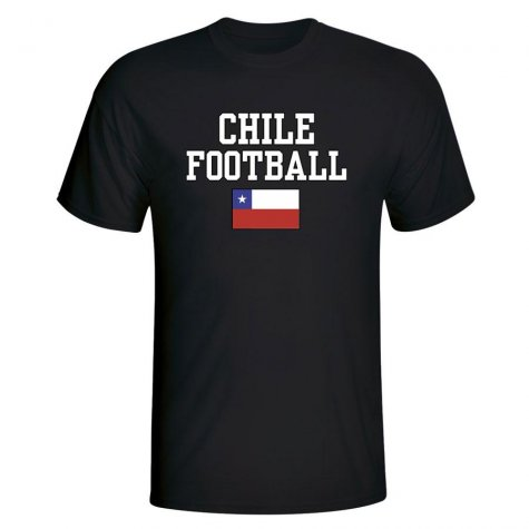 Chile Football T-Shirt - Black