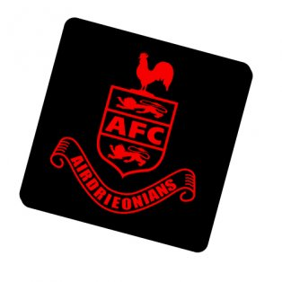 Airdrieonians Official Coaster (Black)