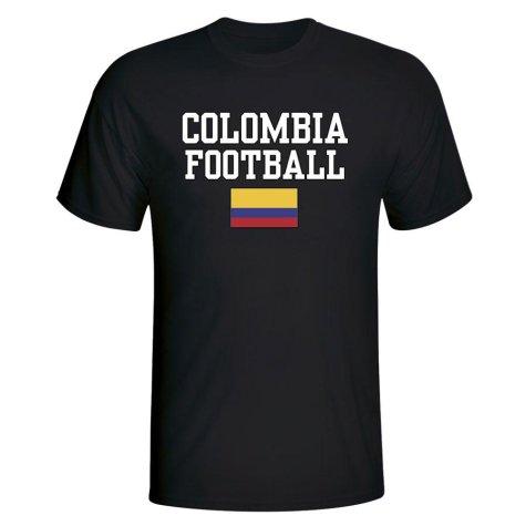 Colombia Football T-Shirt - Black