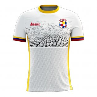 Colombia 2020-2021 Away Concept Football Kit (Libero)