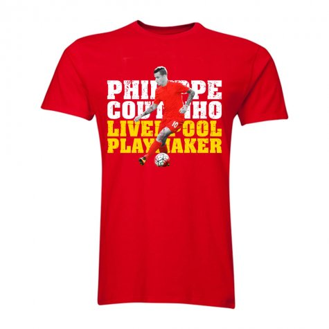 Philippe Coutinho Liverpool Playmaker T-Shirt (Red)