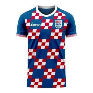 Croatia 2020-2021 Away Concept Football Kit (Libero) - Little Boys