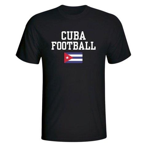 Cuba Football T-Shirt - Black