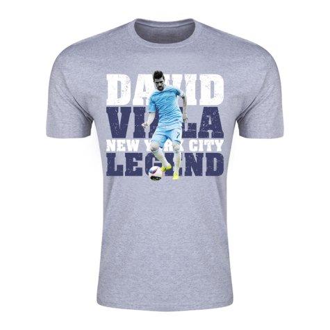 David Villa New York City Legend T-Shirt (Grey)