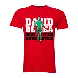 David De Gea Man United Goalkeeper T-Shirt (Red) - Kids