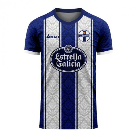 Deportivo La Coruna 2020-2021 Home Concept Football Kit (Libero) - Little Boys