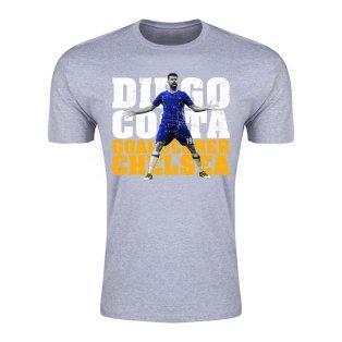 Diego Costa Chelsea Goalscorer T-Shirt (Grey) - Kids