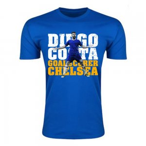 Diego Costa Chelsea Goalscorer T-Shirt (Blue)