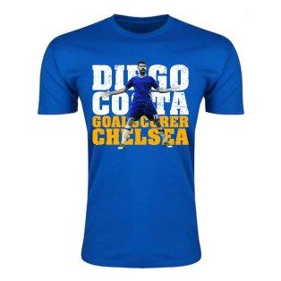 Diego Costa Chelsea Goalscorer T-Shirt (Blue) - Kids