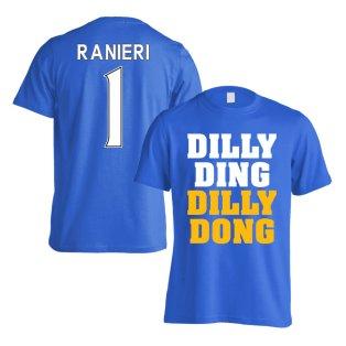 Leicester Claudio Ranieri Dilly Ding T-Shirt (Ranieri 1) - Blue