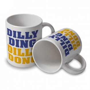 Leicester City Dilly Ding Dilly Dong Mug (White)