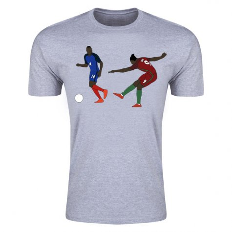 Eder Goal Euro 2016 Cartoon T-Shirt (Grey)