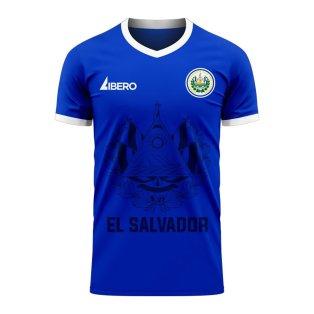 El Salvador 2020-2021 Home Concept Football Kit (Libero) - Womens