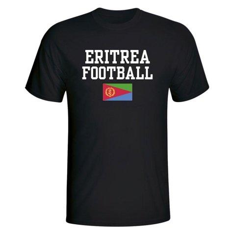 Eritrea Football T-Shirt - Black