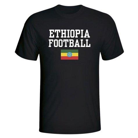 Ethiopia Football T-Shirt - Black