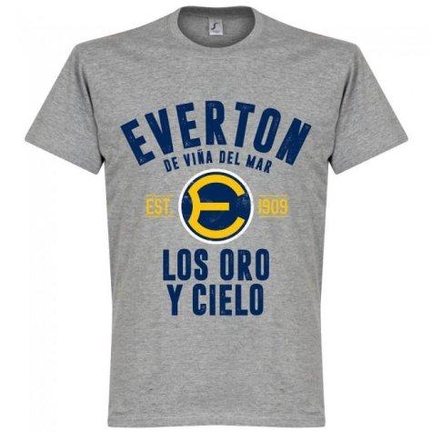 Everton de Chile Established T-Shirt - Grey