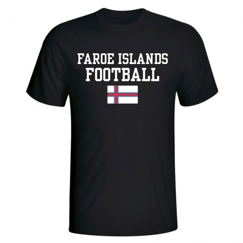 Faroe Islands Football T-Shirt - Black