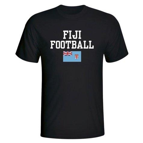 Fiji Football T-Shirt - Black