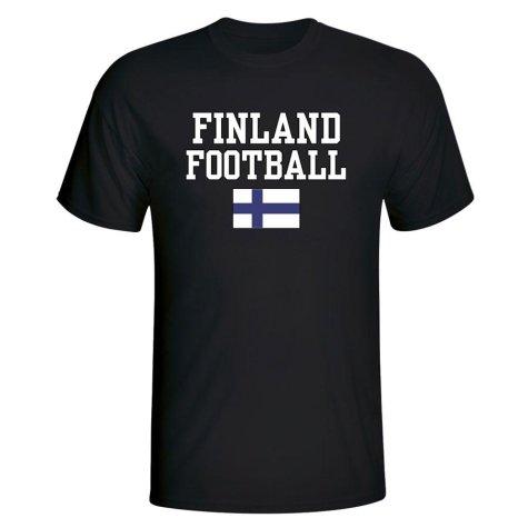 Finland Football T-Shirt - Black