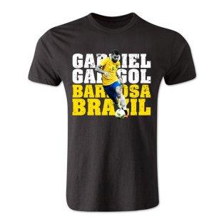 Gabriel Gabigol Barbosa Brazil T-Shirt (Black) - Kids